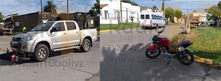 Dos impactos en Avenida 25 de Mayo y Ameghino: Dos motociclistas hospitalizados