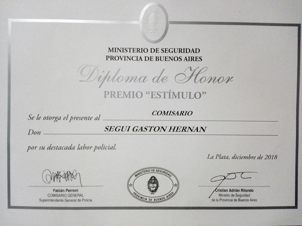 Oficiales de la SUBDDI BOLIVAR fueron premiados por sus labores desarrolladas durante el año 2018