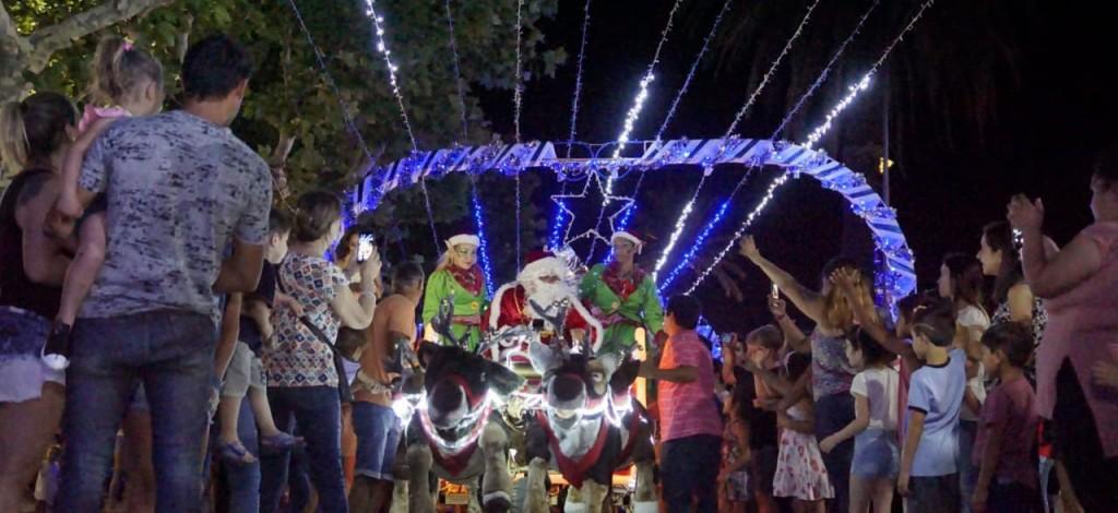 Papá Noel llegó al Centro Cívico