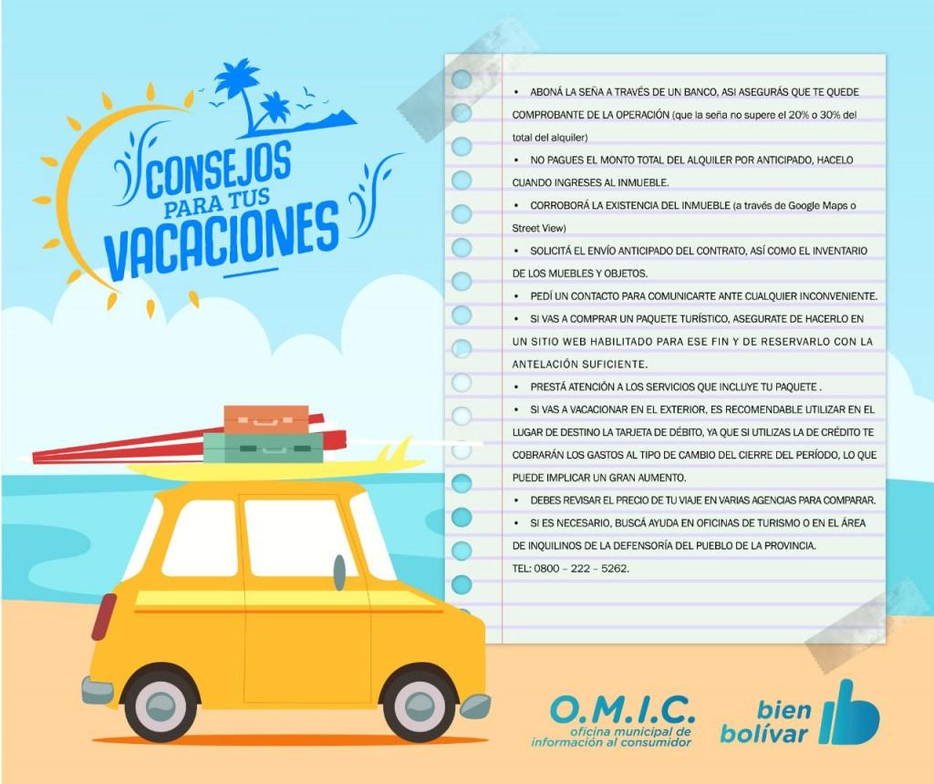 La OMIC ofrece recomendaciones para veranear seguros