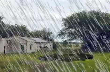 Registro de lluvias en Bolívar y la zona: Desde 15 hasta 35 mm