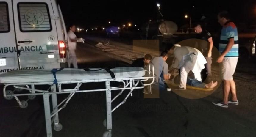 Un hombre resultó con traumatismos y excoriaciones, a raíz de un accidente en Ruta 226 y Las Heras
