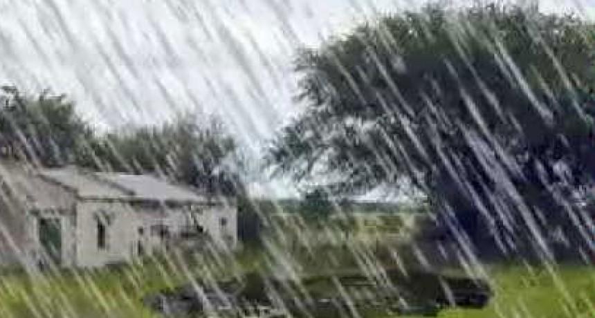 Registro de lluvias en Bolívar y la zona: Desde 10 hasta 35 mm