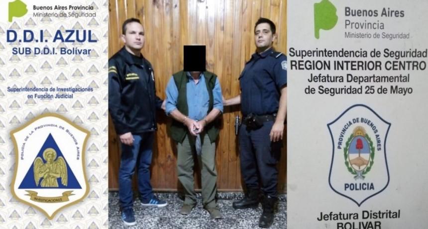 Las fuerzas policiales de Bolívar detuvieron a un pedófilo en la ciudad