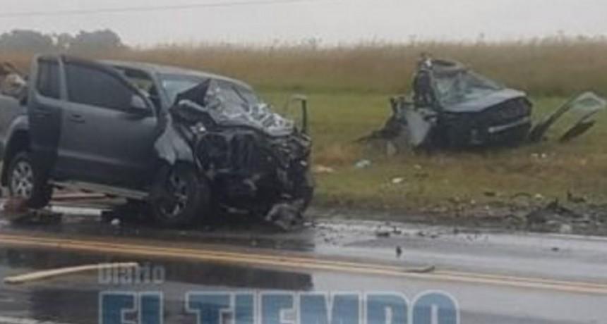 Ruta 3: tres muertos y varios heridos en un violento accidente