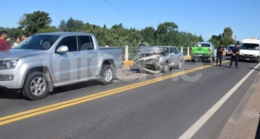 Cuádruple choque en cadena en el Puente de Ruta 226 y el arroyo Tapalqué