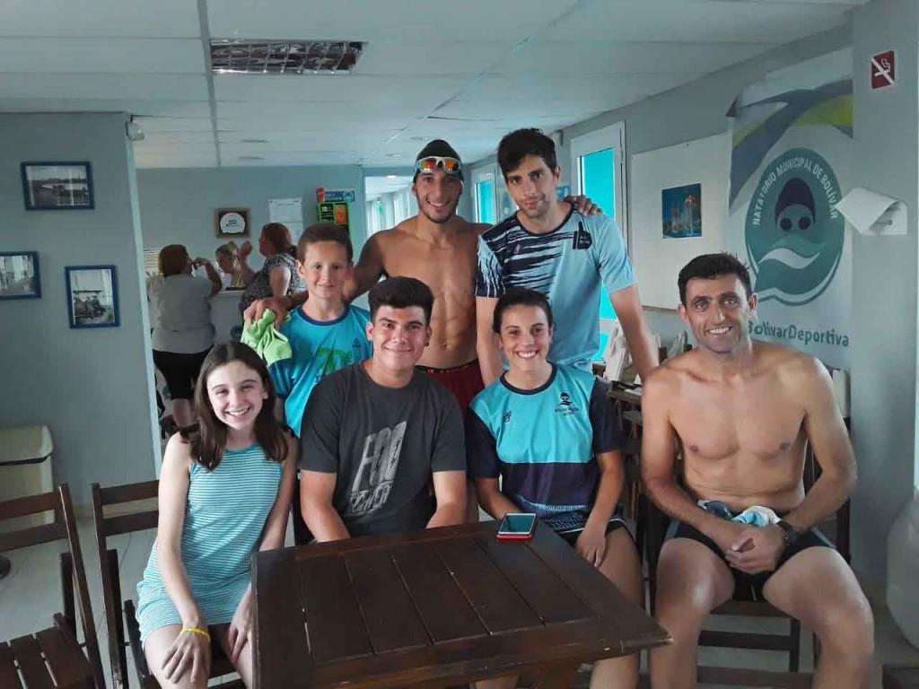 Excelente participación de los alumnos del Natatorio Municipal en una competencia de aguas abiertas