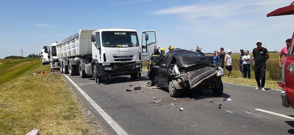 Accidente múltiple en Ruta Nacional 205 km 148