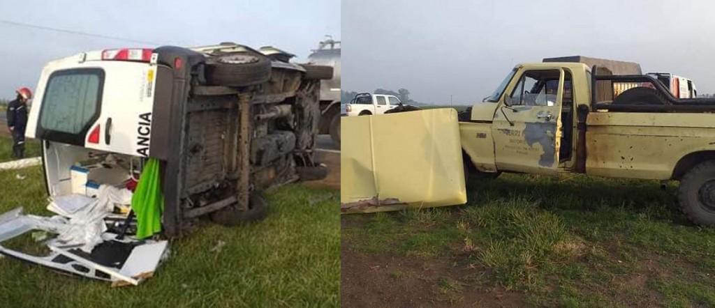Ruta 5: Se accidentó una ambulancia de Tres Lomas y falleció una mujer