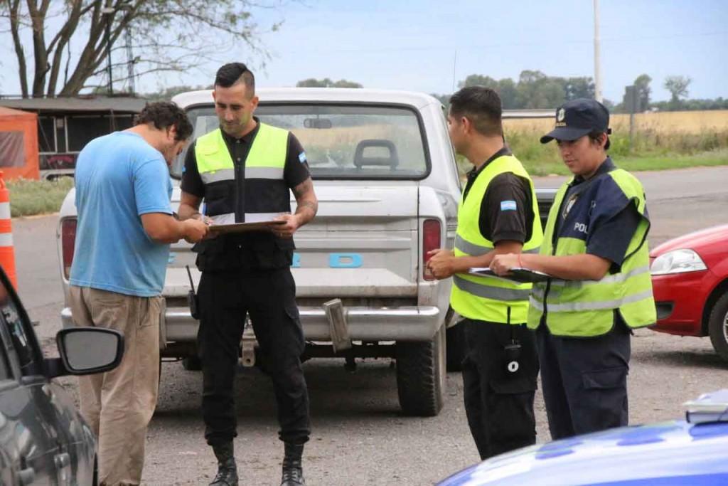 Jefatura Distrital y Agencia de Seguridad Vial participaron de un operativo de prevención en Ruta 226