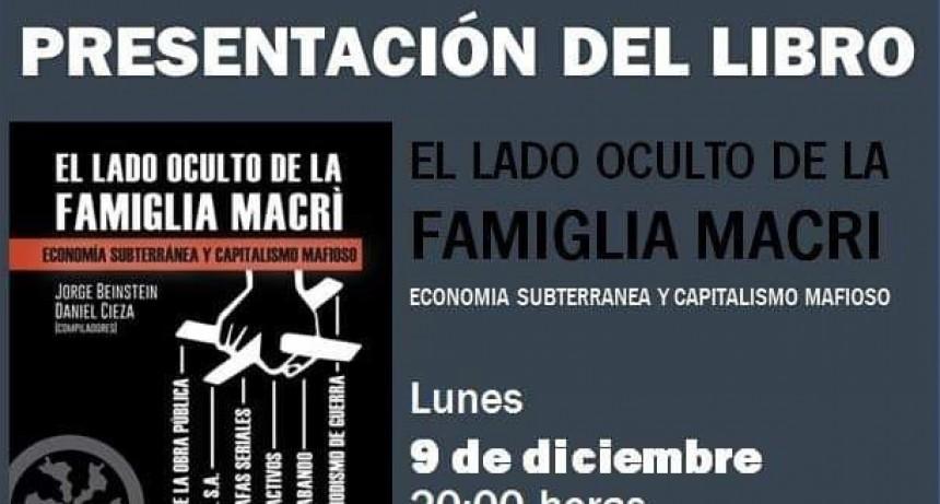 Se presenta el libro 'El lado oculto de la famiglia Macri'; Economía subterránea y capitalismo mafioso