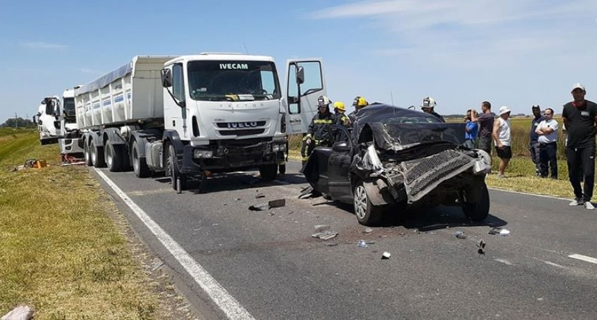 Accidente múltiple en Ruta Nacional 205 km 148