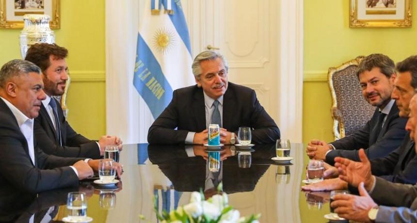 El presidente Alberto Fernández recibió al titular de la Conmebol, Alejandro Domínguez