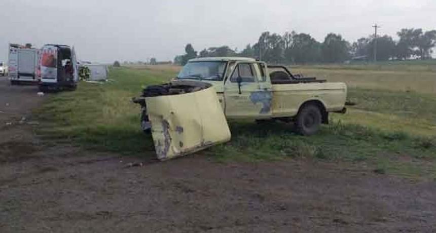 Ruta 5; Colisionaron una ambulancia y una camioneta