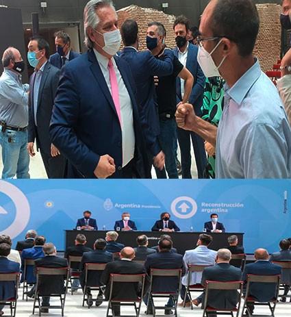 Pisano participó del acto de anuncios en Casa Rosada