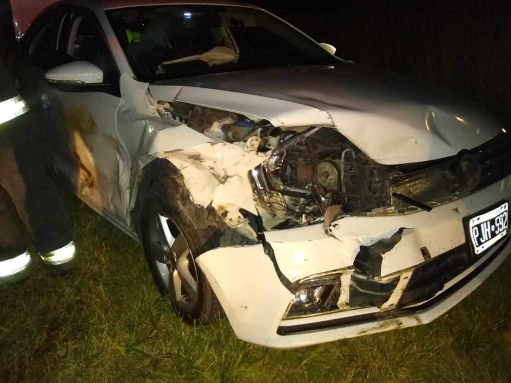 """Franco Rojas: """"Afortunadamente, el automóvil fue lo suficientemente estable para poder mantenerse sobre la ruta"""""""